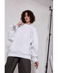 TOPSHOP - Tie Sleeve Hoodie By Boutique - Lyst