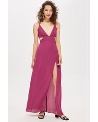 TOPSHOP - Cut Out Side Maxi Dress - Lyst