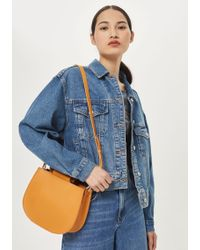 TOPSHOP - Trilly Wood Handle Tote Bag - Lyst