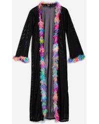 Jaded London - Mesh Maxi Kimono By - Lyst