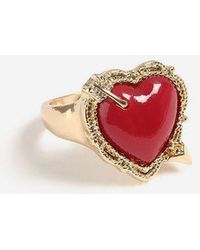 TOPSHOP - heart Ring - Lyst