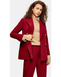 TOPSHOP Blazer de costume rouge baie Petite