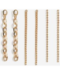 TOPSHOP chain Drop Earrings - Metallic