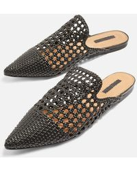 TOPSHOP - Knot Woven Mules - Lyst