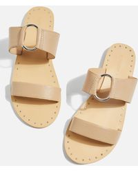 TOPSHOP - Wide Fit Hooray Two Strap Sandals - Lyst