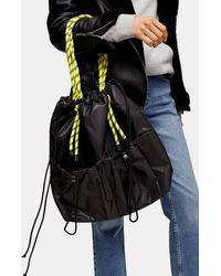 TOPSHOP Considered Marble Black Bunge Tote Bag