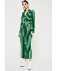 TOPSHOP - Bold Striped Jumpsuit - Lyst