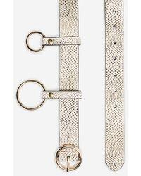 TOPSHOP - Stingray Printed Chain Belt - Lyst