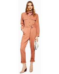 TOPSHOP - Java Boilersuit - Lyst