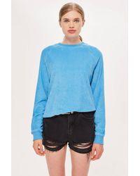 TOPSHOP - Towelling Sweatshirt - Lyst