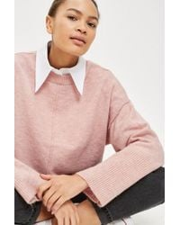 TOPSHOP - Tall Ribbed Cropped Sweater - Lyst