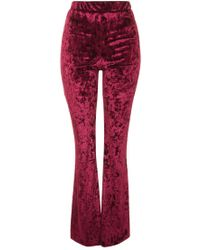 Oh My Love - Velvet Flare Trousers By - Lyst