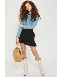 TOPSHOP - Petite Heart Ruffle Skirt - Lyst