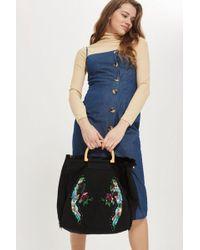 TOPSHOP - Parrot Canvas Shopper Bag - Lyst