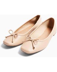 TOPSHOP Astrid Natural Ballet Shoes