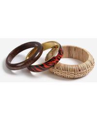 TOPSHOP - mixed Wicker Bangle Pack - Lyst