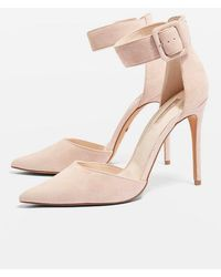 6b817f2648d TOPSHOP wide Fit Grace Shoes in Natural - Lyst