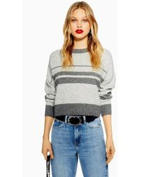 TOPSHOP - Tall Super Soft Stripe Jumper - Lyst