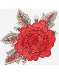 TOPSHOP - Red Flower Iron On Badge - Lyst