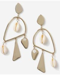 TOPSHOP mobile Shell Earrings - Metallic