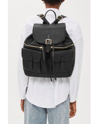 TOPSHOP - Double Pocket Backpack - Lyst