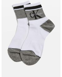 CALVIN KLEIN 205W39NYC - Retro Logo Socks By - Lyst