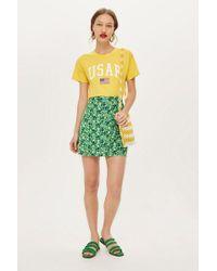 TOPSHOP - Meadow Ruffle Mini Skirt - Lyst