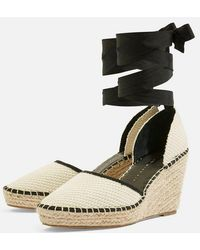 TOPSHOP - Williams Espadrille Wedges - Lyst