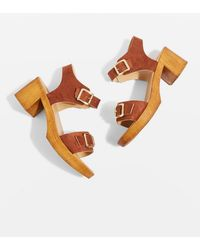 TOPSHOP - Donut Two Part Clogs - Lyst