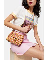 TOPSHOP Fiji Straw Weave Cross Body Bag - Multicolor