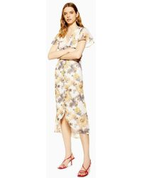 Hope and Ivy - button Front Midi Dress By Hope & Ivy - Lyst