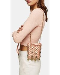 TOPSHOP Shell Cage Mini Bag - Pink