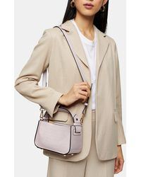 TOPSHOP Lilac Color Block Mini Grab Bag - Purple