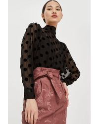 TOPSHOP - Embroidered Paperbag Miniskirt - Lyst