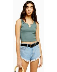 TOPSHOP Notch Tank - Green