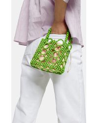 TOPSHOP Green Beaded Mini Grab Bag