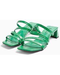 TOPSHOP Dixie Strappy Sandal - Green