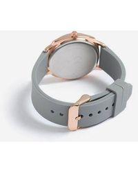 TOPSHOP - grey Silicone Watch - Lyst