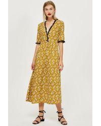 TOPSHOP - Cheetah Midi Dress - Lyst