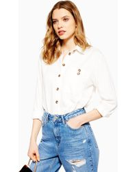 TOPSHOP Casual Shirt - White