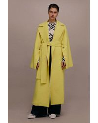 TOPSHOP - wool Wrap Coat By Boutique - Lyst