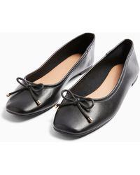 TOPSHOP Astrid Black Ballet Shoes