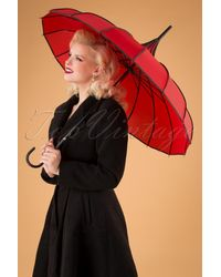 Collectif Clothing 50s Everly Umbrella - Rood