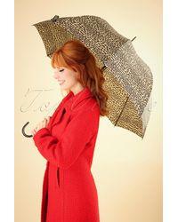 Collectif Clothing 50s Lacy Leopard Umbrella - Meerkleurig