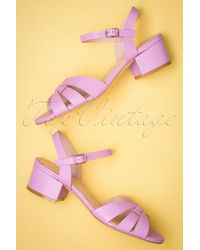 Miss L-fire 60s Isla Low Heel Sandals - Meerkleurig