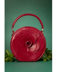 Lulu Hun 50s Flora Rose Bag - Rood