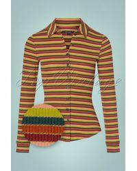 King Louie 70s Reina Stripes Blouse - Meerkleurig