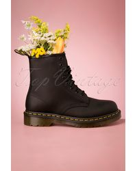 Dr. Martens 1460 Greasy Ankle Boots - Zwart