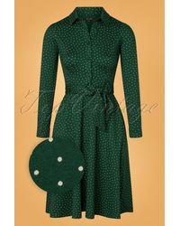 King Louie 60s Sheeva Little Dots Dress - Groen