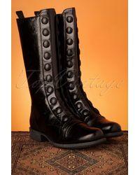 Miz Mooz 60s Lincoln Leather Boots - Zwart